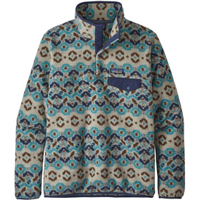 Patagonia Lightweight Synchilla Snap-T Pullover Mujer, tundra cluster/big sky blue